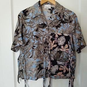 3.1 Phillip Lim Patchwork Print Camp Shirt